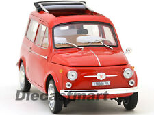 1960 FIAT 500 JARDINIERE RED 1:18 DIECAST CAR MODEL BY NOREV 187722