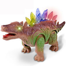 Electric Stegosaurus Walking Dinosaur Light Sound Toys Model for Kids Children