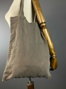 Rick Owens Drkshdw Runway Cotton Twill Embroidered Khaki Tote bag Shopper Italy