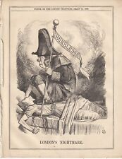 1866 Punch Cartoon  Bumbledom - London's Nightmare