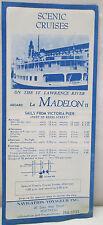 Vintage Scenic Cruises St. Lawrence River La Madelon Montreal Canada EXPO 67