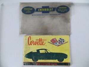 1966 Chevrolet Chevy Corvette Original Owners Manual + Bag Envelope