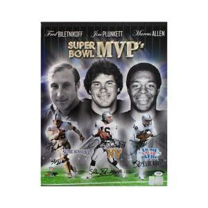 Biletnikoff, Plunkett, Allen Autographed Oakland Raiders 16x20 Photo PSA/DNA LOA