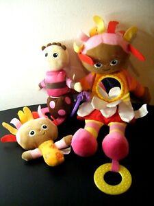 3 x In The Night Garden Upsy Daisy / Tombliboo Stroller Rattle Teether