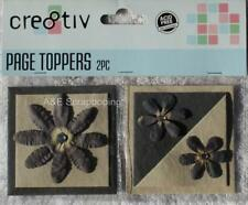Cre8tiv Page Toppers - Brown - 2 pieces