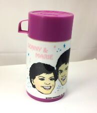 Donny and Marie Osmond Vintage 1977 Aladdin Thermos Bottle and Cup