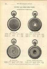 1894 PAPER AD 11 PG 18 16 Size Full Bassine Waltham Movements Pocket Watch Case