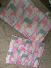 Laura Hart llama Kids Xl twin 2 Piece Comforter Set blanket pillowcase sham pink