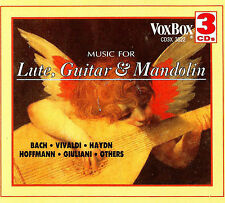3 CD BOX MUSIC FOR LUTE, GUITAR AND MANDOLIN BACH VIVALDI HAYDN HOFFMAN GIULANI