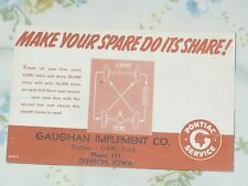 1949-1954 Pontiac Service Reminder Post Card - 'Make Your Spare Do Its Share!'