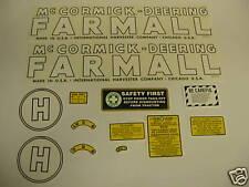 McCormick Deering Farmall Model H Decal Set NEW - FREE SHIPPING