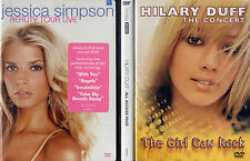 jessica simpson REALITY TOUR LIVE NEW / hilary duff THE CONCERT & PASS  DVD LOT