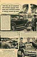 1943 Print Ad of WWII BF Goodrich Ameripol Synthetic Tire