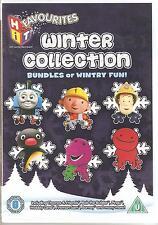 WINTER COLLECTION BUNDLES OF WINTRY FUN KIDS DVD PINGU FIREMAN SAM BARNEY & MORE