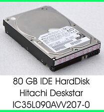 """3,5"""" 8,89 CM 80 GB 80GB IDE FESTPLATTE HDD HITACHI IC35L090AVV207-0 7200U/M -F25"""
