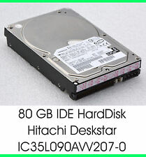 "3,5"" 8,89 cm 80 gb 80gb disco duro IDE HDD Hitachi ic35l090avv207-0 7200u/m - f25"