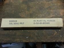 Dodge W.C. WC M37 Steering Knuckle Oil Seal Felt G741 G502 G507 NOS (PAIR)