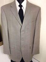 NEW STAFFORD Men Gray HERRINGBONE Sport Coat Jacket TROPICAL SILK Blazer 42 L