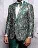 Men Insomnia Manzini Blazer Stage Performer Prom MZE166 Green Sequin Floral New