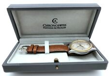 CHRONOSWISS PACIFIC AUTOMATIC 38.5mm STEEL & 18K SOLID GOLD 2892A2 NOS in BOX