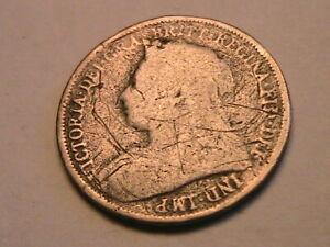 1893 Great Britain Victoria 1 Shilling Ch VG Original Old Tone Silver UK Coin