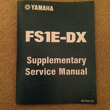 YAMAHA FS1E FIZZY FS1 FS1-E FS1-ED/ FS1-EDX SUPPLEMENTARY SERVICE MANUAL