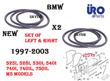Rear Left & Right Door Weatherstrip Seals SET For BMW 525 528 530 540 740 750 M5