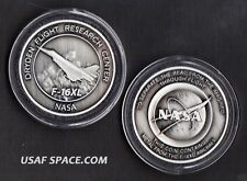 NASA DRYDEN F-16XL COIN MEDALLION CONTAINS FLOWN METAL FROM THE F-16XL AIRCRAFT