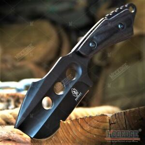 """7"""" Full Tang Cleaver Tactical Fixed Blade w/ Wooden Hand Outdoor Hunting Camping"""