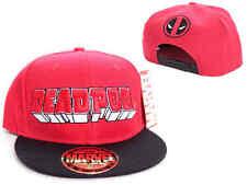 Officiel Marvel Comics-Deadpool 3D Ecrit et symbole Casquette Réglable Chapeau (Nouveau)
