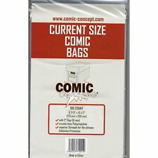 More details for 1000 x current modern age comic concept  bags 175mm x 269mm 6 7/8