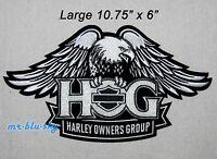 Large Silver Eagle Patch ~ Harley Davidson Owners Group HOG H.O.G.