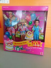 1993 Barbie Birthday Fun at McDonald's Party for Stacie & Todd Gift Set #11589