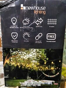 Newhouse Lighting Outdoor/Indoor 48 ft. Plug-In S14 Bulb LED String Light