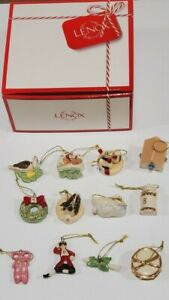 Lenox 12 Days of Ornaments Set NIB On The Twelfth Day of Christmas last one