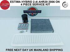 TOYOTA ESTIMA HYBRID 2.4i PETROL AHR20 2006 ONWARDS 4 PIECE SERVICE KIT