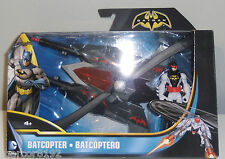 """Batman Batcopter DC Comics Rotating Heli -Blades Helicopter W/ 4"""" Action Figure"""