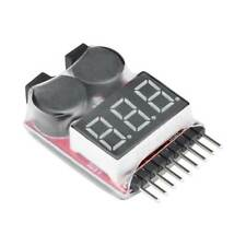 RC Lipo Battery Low Voltage Alarm 1-8S Buzzer Indicator Checker Tester LED Best·
