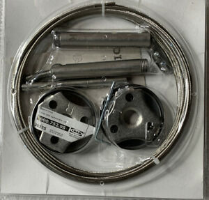"""New IKEA Dignitet Curtain Rod System AA-2034207-1 Stainless Steel 197"""""""