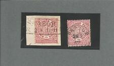 Pr Vor / SAABOR Ra2 auf Kabinett-Briefstück NDP 1 Gr. + K1 auf 1 Gr. gez. Pracht