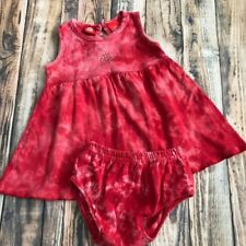 Target Circo Red Tie-Dye Baby Girl Sundress 6 Month Patriotic July 4th