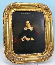 Biedermeier Bild Bildnis Josefine Röttgen alte Apothekerfamilie aus Köln -17386-