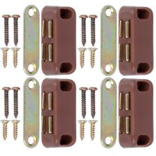 4x Magnetic Door Catch Strong Magnet 4kg Cupboard Cabinet Small Brown Latch Set