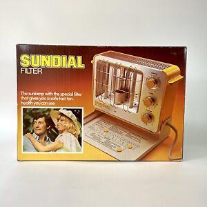 Vintage Sundial Filter Tanning Heat Lamp Machine Model 120-01 NOS New Old Stock
