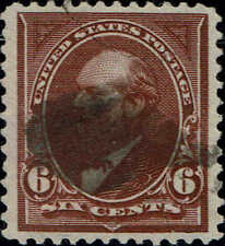 #256  1894 6 CENT GARFIELD BUREAU ISSUE USED--VF/XF
