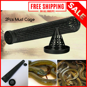 Cage Fishnet Finless Eel Loach Catch Trap Fishing Pot Durable Plastic Container