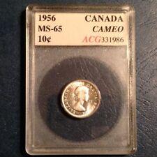 ~ 1956 Canada Ten 10 Cents Uncirculated Unc