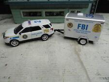 GREENLIGHT POLICE FBI JOINT TERRORISM TASK FORD EXPLORER & TRAILER CUSTOM SET