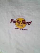 ORIGINAL VINTAGE 1980S PARTY HARD CAFE T-SHIRT, PANAMA CITY BEACH, FL, WHITE