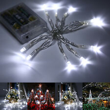 2PCS White Fairy String Lights Battery Power Indoor Outdoor Party Wedding Xmas